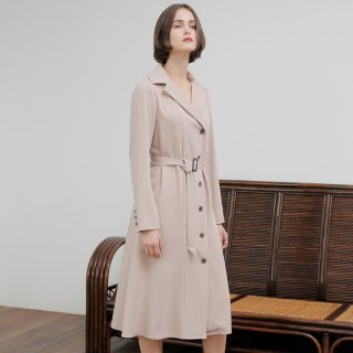 와드로브(wardrobe) TRENCH ONE-PIECE_BEIGE
