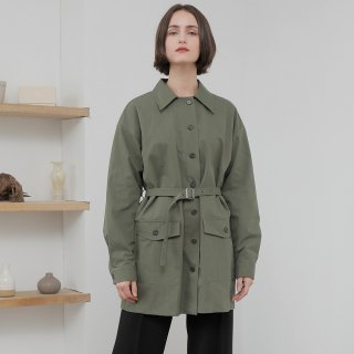 와드로브(wardrobe) OVERFIT BELT JACKET_KHAKI