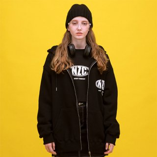 노이지컴퍼니(noizycompany) NZC Zip Up Hood (Black)