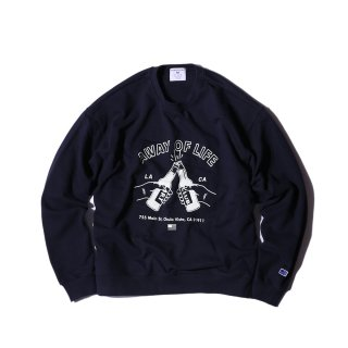 샌드파이퍼(sandpiper) BEER PARTY SWEAT SHIRTS FADE NAVY