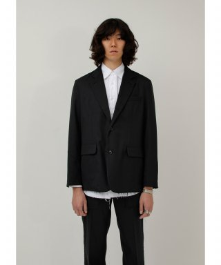 가쿠로() Notch Lapel 3B Jacket - Double Cloth Wool (Black)