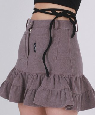 어글리쉐도우(uglyshadow) RETRO SKIRT(BURGUNDY)
