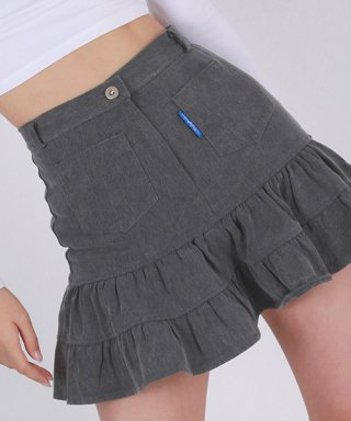 어글리쉐도우(uglyshadow) RETRO SKIRT(BLACK)