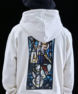 낫포너드(not4nerd) Two Pope Pullover Hood Ivory