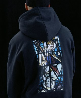 낫포너드(not4nerd) Two Pope Pullover Hood Black