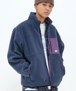 브라운브레스(brownbreath) TAG REVERSIBLE FLEECE JACKET - NAVY