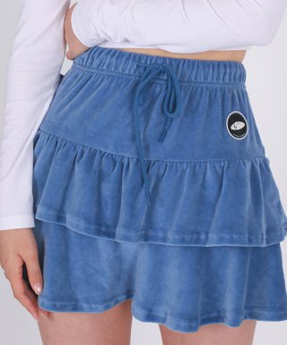 어글리쉐도우(uglyshadow) VELVET SKIRT(BLUE)
