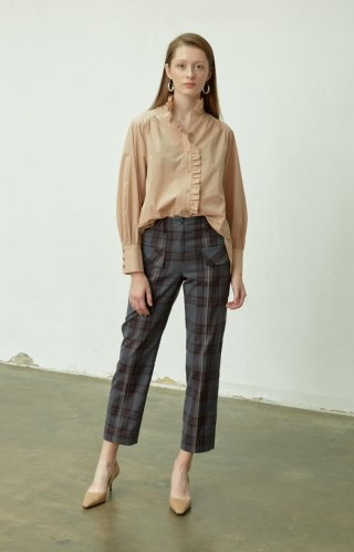 누보텐(nuvo10) plaid cargo pants
