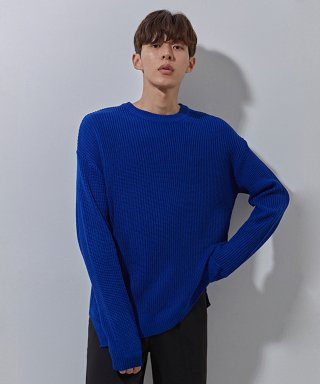 에이본(theabon) YS basic over knit cobalt