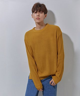 에이본(theabon) YS basic over knit mustard