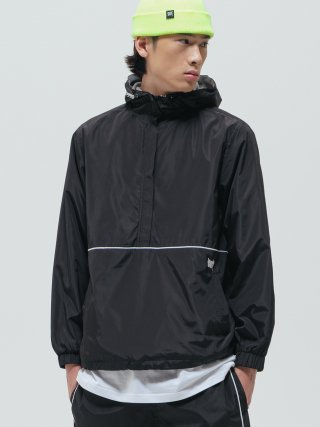 브라운브레스(brownbreath) TAG ANORAK JACKET - BLACK