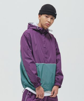 브라운브레스(brownbreath) TAG ANORAK JACKET - PURPLE