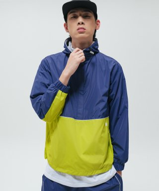 브라운브레스(brownbreath) TAG ANORAK JACKET - NAVY