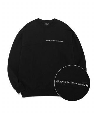 마크 곤잘레스(markgonzales) M/G PANEL CREWNECK BLACK