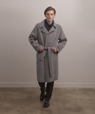 아람(aram) COAT#4 ALPACA HAND-MADE ROBE COAT - GREY