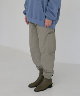 엠오엘(mol) WASHED CARGO PANTS - KHAKI GREY