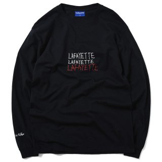 라파예트(lafayette) KEEP SMILING L/S TEE BLACK