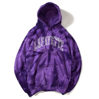 라파예트(lafayette) ARCH LOGO TIE DYED HOODED SWEATSHIRT PURPLE