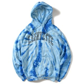 라파예트(lafayette) ARCH LOGO TIE DYED HOODED SWEATSHIRT BLUE