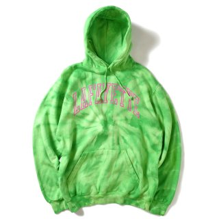 라파예트(lafayette) ARCH LOGO TIE DYED HOODED SWEATSHIRT LIME