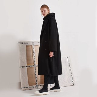 디그낙12(dbydgnak) Diagonal Pleat Long Coat (BK)
