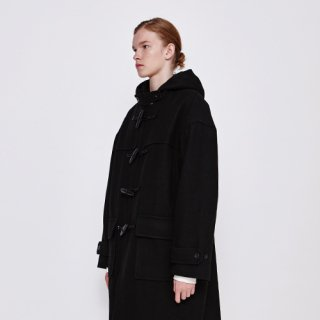 디그낙12(dbydgnak) Drop Shoulder Duffle Coat (BK)