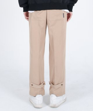 메리먼트(merriment) (유니섹스)Semi Wide Button Slacks(BEIGE)