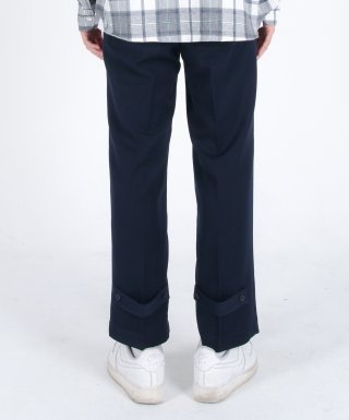 메리먼트(merriment) (유니섹스)Semi Wide Button Slacks(NAVY)
