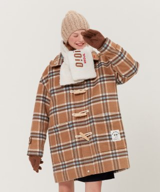 5252 바이 오아이오아이(5252byoioi) CHECK DUFFLE COAT_beige check