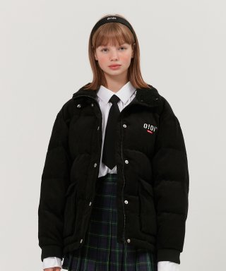 5252 바이 오아이오아이(5252byoioi) FUR COLLAR CORDUROY JACKET_black
