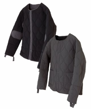 아웃스탠딩(outstanding) REVERSIBLE QUILTING JACKET [CHARCOAL/BLACK]]