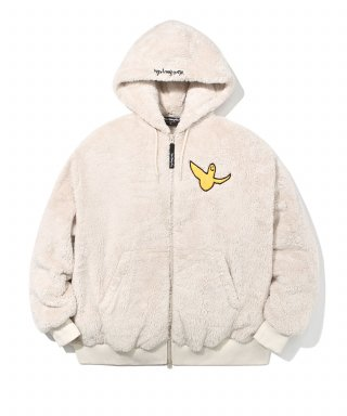 마크 곤잘레스(markgonzales) M/G ANGEL BOA ZIP UP HOODIE OATMEAL