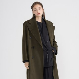 엠엠아이씨(mmic) WIDE DOUBLE COAT_BR_W