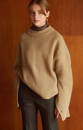 누보텐(nuvo10) high collar knit sweater