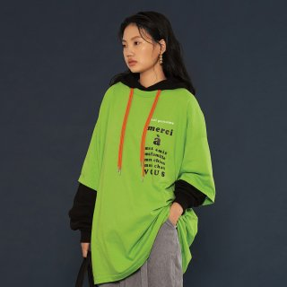 위빠남(ouipaname) THANK YOU T SHIRTS(LIGHT GREEN)