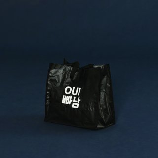 위빠남(ouipaname) LOGO SHOPPER BAG(BLACK)