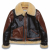 DV.LOT 567 SHADOW TYPE B-3 MOUTON JACKET -DARK BROWN-