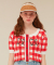 HEART LOGO KNIT CARDIGAN_red check
