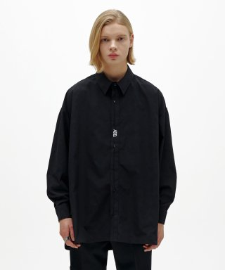 에드(add) FOLDED PLACKET SHIRT BLACK