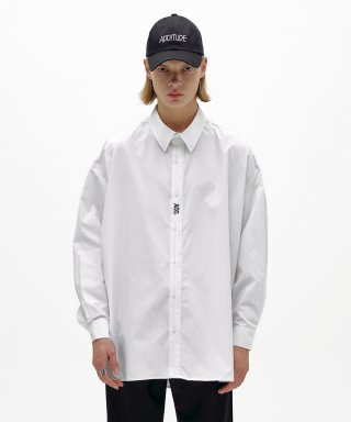 에드(add) FOLDED PLACKET SHIRT WHITE
