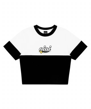 5252 바이 오아이오아이(5252byoioi) [5.B.OXMG] ANGEL CROP T-SHIRTS_black