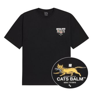 골스튜디오(goalstudio) MC BALM LOGO GRAPHIC TEE - BLACK