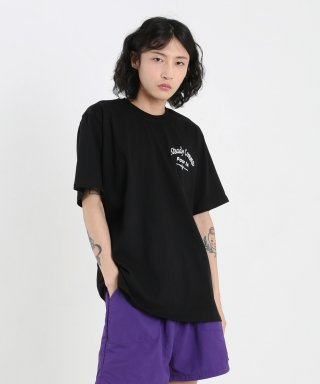 스테디콤마(steadycomma) Pour toi Arch SHORT SLEEVE T-shirt BLACK