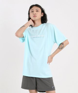 스테디콤마(steadycomma) Basic comma French logo SHORT SLEEVE T-shirt SKYBLUE