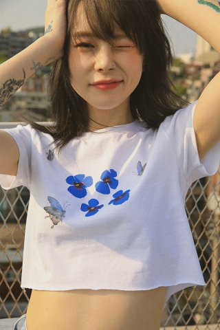 하이스쿨디스코(highschooldisco) Butterfly Cutting T-shirts