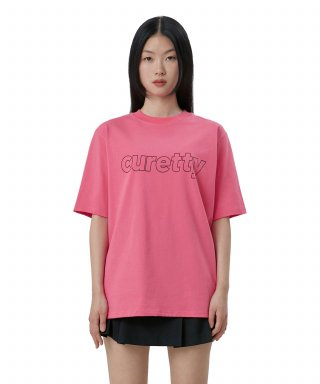 큐리티(curetty) C LINE LOGO T-SHIRT_PINK