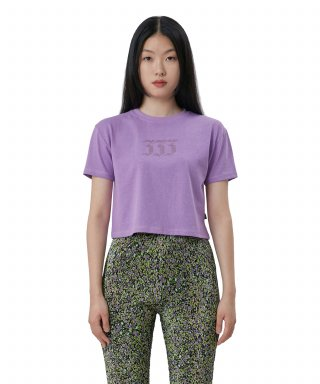 큐리티(curetty) C 333 RHINESTONE T-SHIRT_VIOLET