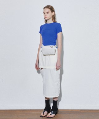 유즈(yuse) TWO WAY OPEN SKIRT - IVORY