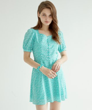 블랭크(blank) FLORAL MINI DRESS-MT