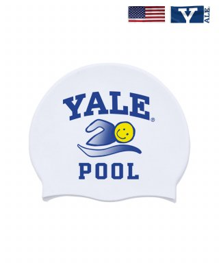 예일(yale) IVY LEAGUE POOL SWIMMING CAP WHITE